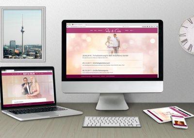 webdesign mit wordpress Ray und Celin Schlagerduo