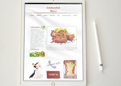 webdesign mit wordpress oder joomla für Tablet Landgasthof Kreuz Königsheim