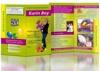 Flyer für einen Kinderveranstaltungsservice