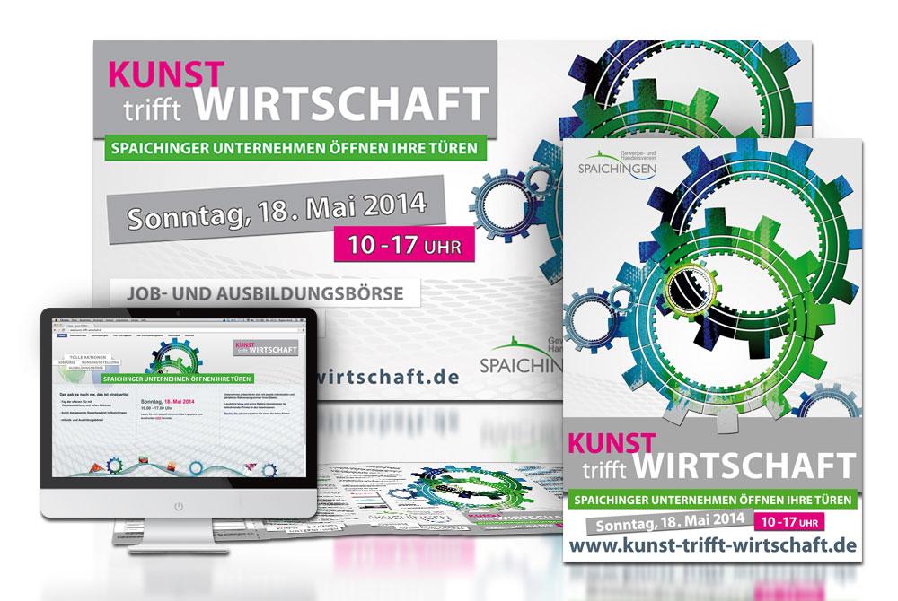 corporate design marketing für Kunst trifft Wirtschaft von Gina Koch Design