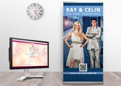 corporate design marketing für Ray und Celin, das Vater-Tochter-Duo, von Gina Koch Design