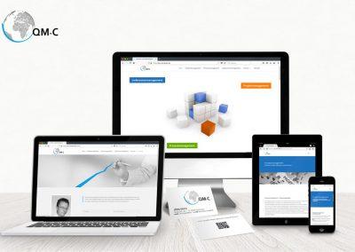 QM-Consulter: Website mit Betreuung, Entwicklung des Logos, Visitenkarten