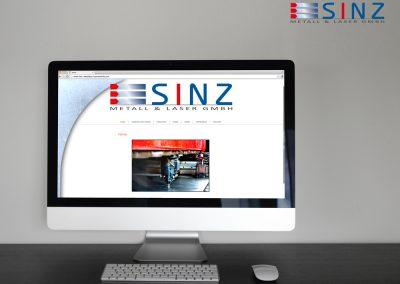 Sinz Laser und Metallbau: Konzeption, Website und Logoentwicklung