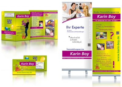 corporate design marketing für Veranstaltungsservice Karin Boy von Gina Koch Design