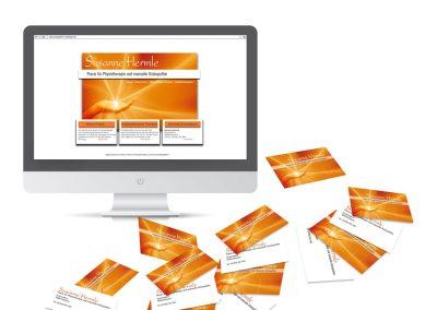 Praxis für Physiotherapie und Osteophatie: Konzeption, Website und Visitenkarten